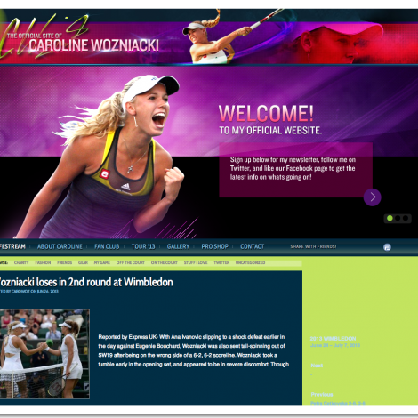 Caroline Wozniacki   Official Website
