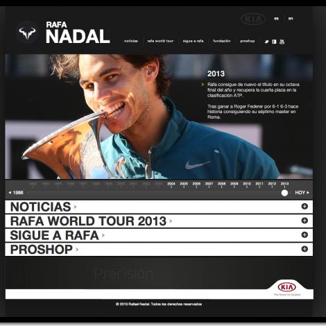 Sitio web oficial de Rafa Nadal
