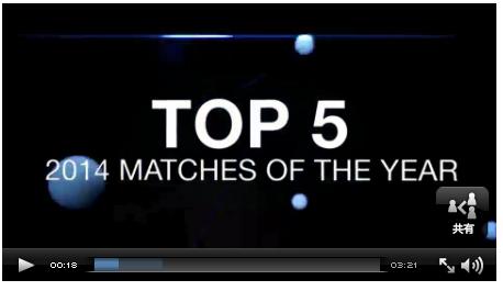 ATPワールドツアー2014のベストマッチ第3位〜第5位